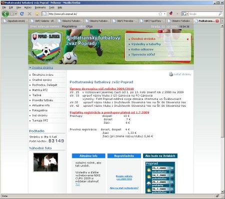 Podtatransk� futbalov� zv�z Poprad